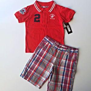 BH Polo Club short set for toddler boys